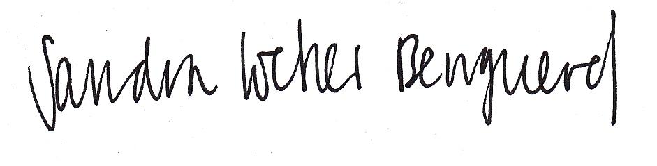 Unterschrift Sandra Locher Benguerel